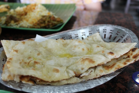 Yummy butter naan to soak up the fish head juices.