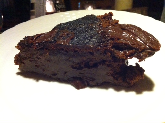 The incredibly rich, gooey, intense chocolate mud cake.  It was literally oozing on the plate.  YUM!