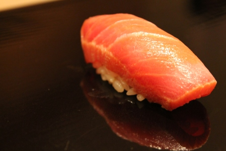 Chutoro (medium fatty tuna).