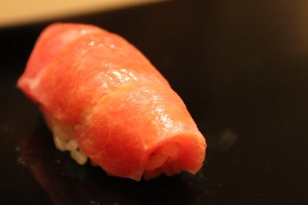The pièce de résistance - Otoro (fatty tuna).