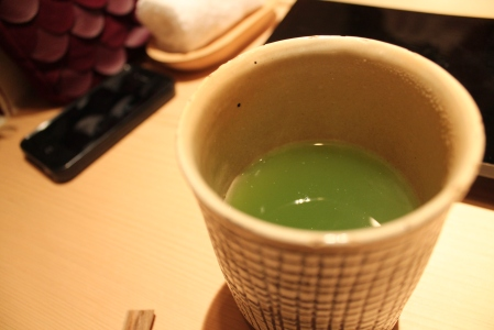 Refreshing matcha tea to aid in digestion.