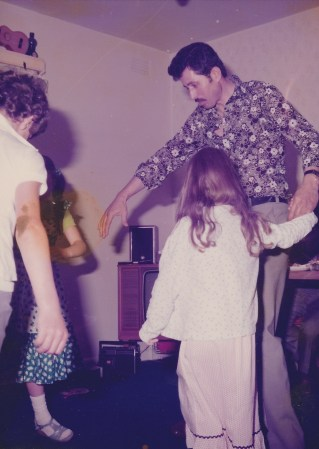 One of the few times I allowed myself to be dragged onto the dancefloor.  Like my dancing nightie?!!