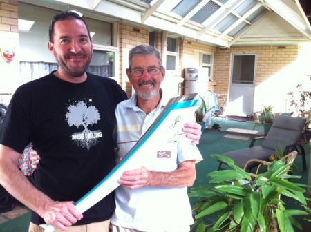Knowing what a treat it would be for me, Alan brought out his Olympic torch, the one he carried for the Sydney 2000 Games.