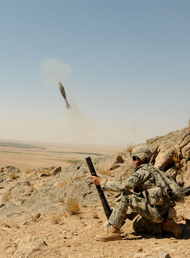This is what a handheld mortar looks like.