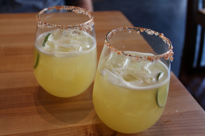 Lóló - quirky restaurant with quirky (but really good) margaritas.  Loved the chilli salt rim.