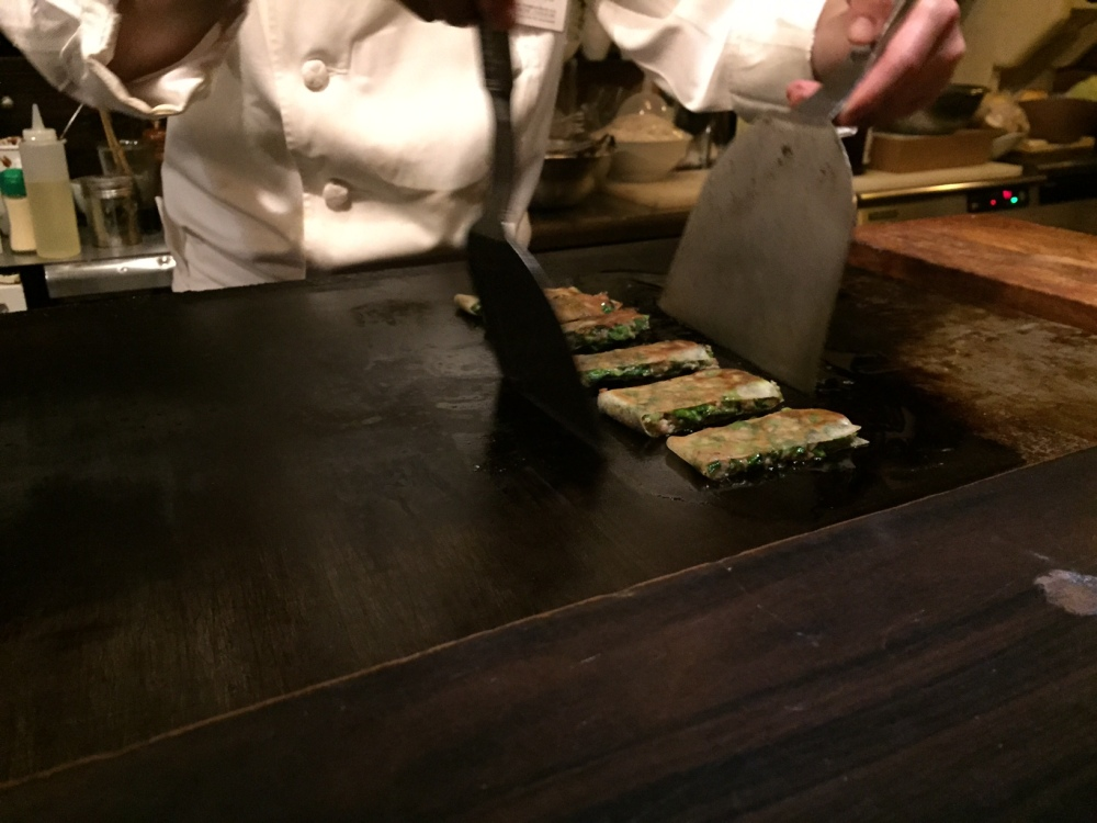 Chef making the unconventional gyoza.  I don't even want to tell you how many serves of this we ate.  Divine!