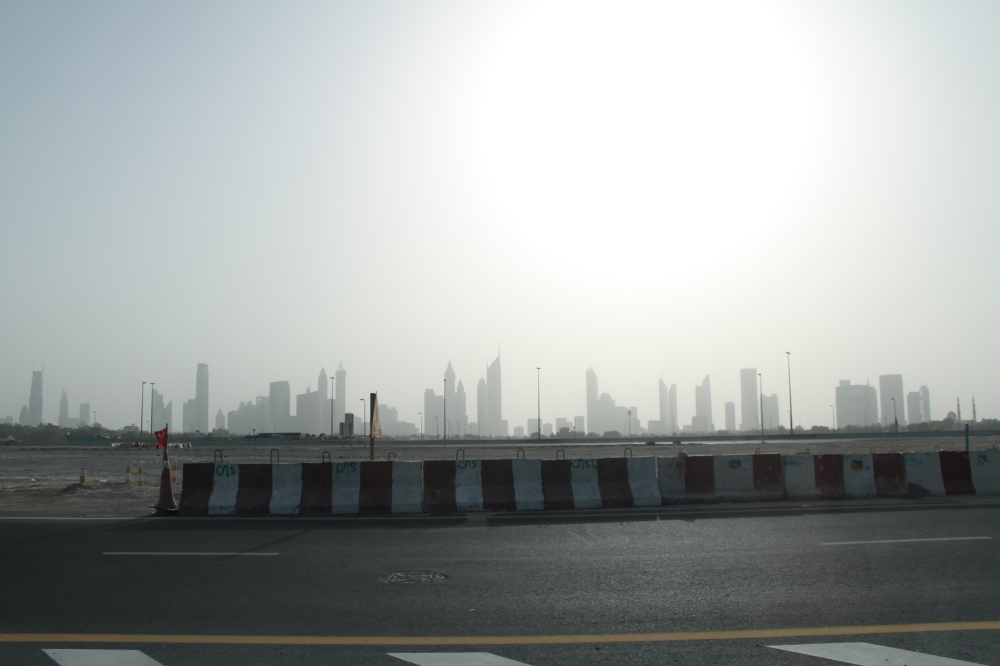 Leaving behind the bright lights and big city of Dubai.