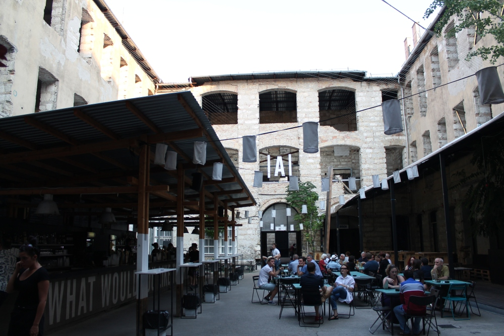 Inside the courtyard.