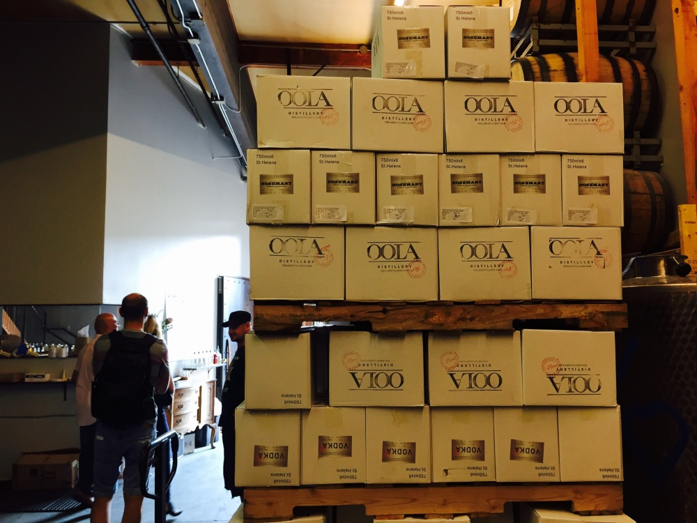 Ready to ship. They make 2500 bottles a month.