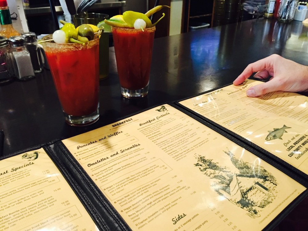 Bloody Mary's at Lost Lake Diner