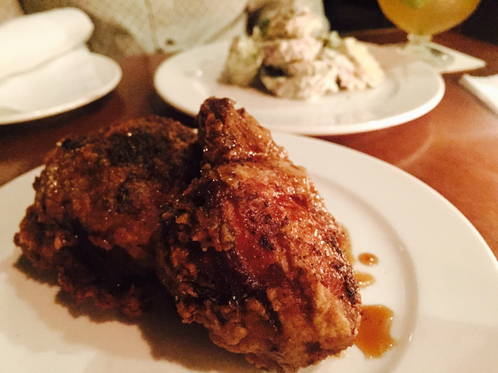 Amazing salt & pepper fried chicken at Tavern Law.