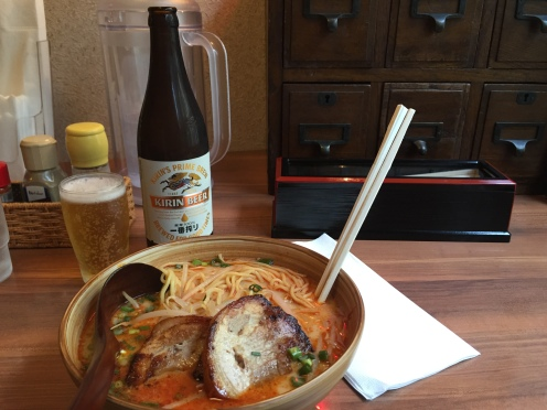 Eat this delicious ramen (with beer)
