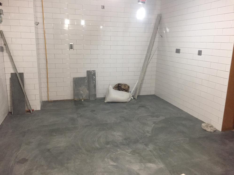 Kitchen tiling done.