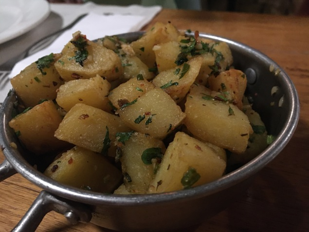 Yummy roast potatoes.